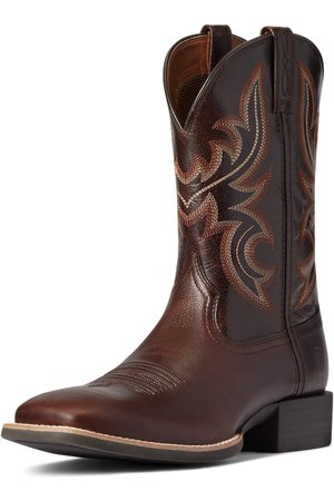 Ariat Men's Sport Cow Country Western Boots in Cusco Brown Leather