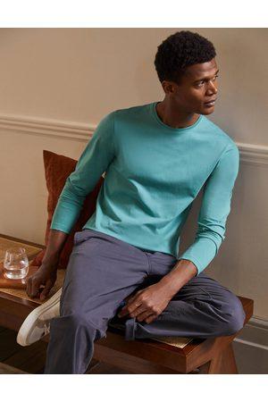 Boden Mode T-shirt délavé à manches longues AQU Homme Boden