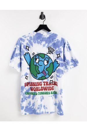 Crooked Tongues T-shirt à imprimé planète - Tie-dye