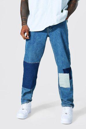 Boohoo Straight Leg Patchwork Jean Homme