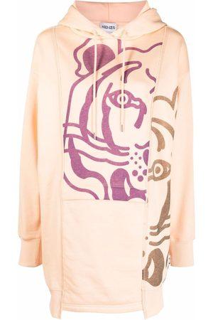 Kenzo Femme Robes imprimées - Robe-hoodie à imprimé tigre