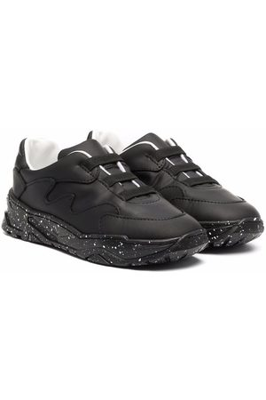 Emporio Armani Baskets - Low-top leather sneakers