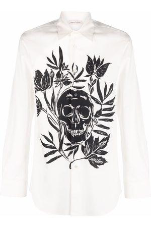 Alexander McQueen Skull-print cotton shirt