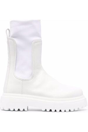 Le Silla Ridged leather boots