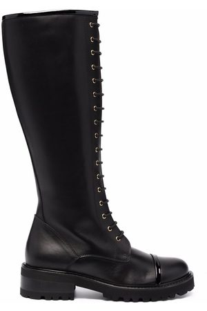 MALONE SOULIERS Lace-up leather knee-length boots