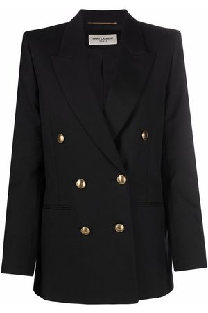 Saint Laurent Femme Vestes - Double-breasted wool blazer