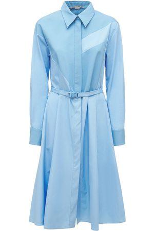 Stella McCartney Robe Midi En Popeline De Coton