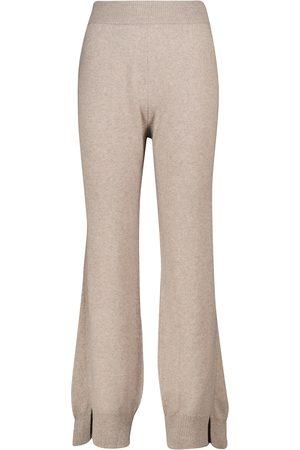 Barrie Pantalon ample taille haute en cachemire