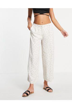 Selected Femme - Pantalon large à imprimé pois (pièce d'ensemble)
