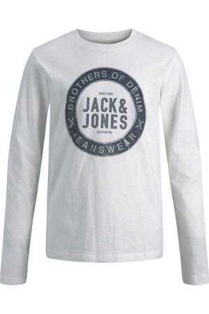 JACK & JONES En Jersey De Coton Pour Garçons T-shirt À Manches Longues Men White