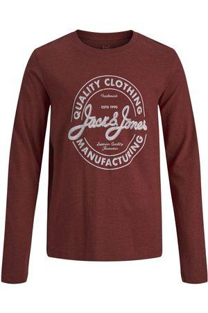 JACK & JONES En Jersey De Coton Pour Garçons T-shirt À Manches Longues Men red