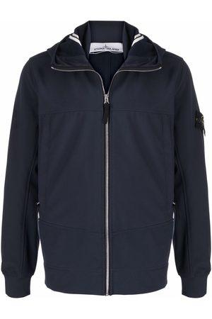 Stone Island Panelled hooded jacket
