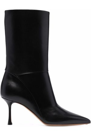 Francesco Russo Mid-heel leather boots