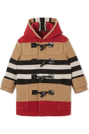 Burberry Kids Duffle coat à rayures Icon