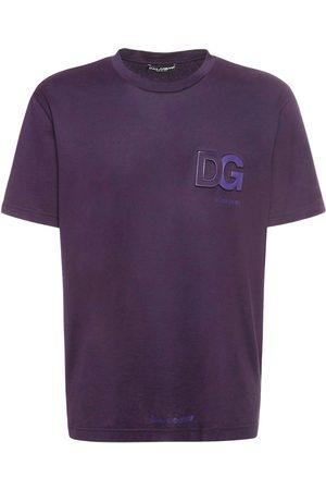 DOLCE & GABBANA T-shirt En Jersey De Coton Avec Logo