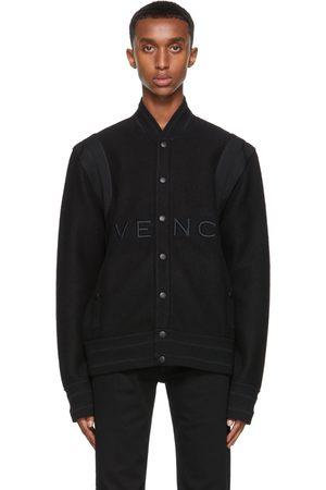 Givenchy Homme Blousons - Blouson aviateur noir en laine