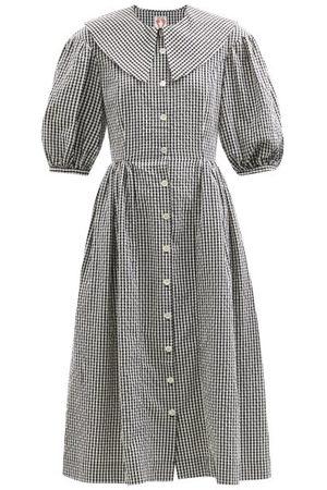 Shrimps Femme Robes imprimées - Robe-chemise en coton à motif vichy Olivia