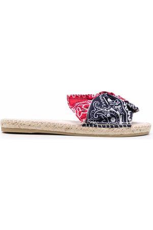MANEBI Femme Sandales - Bandana-print sandals