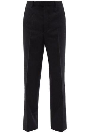 Prada Pantalon ample en laine à fines rayures