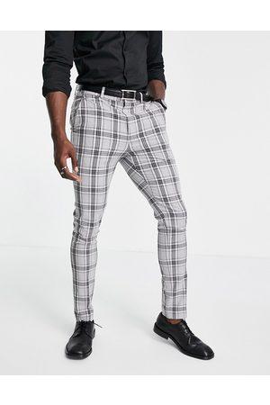 ASOS DESIGN Pantalon de costume ajusté à carreaux Prince de Galles