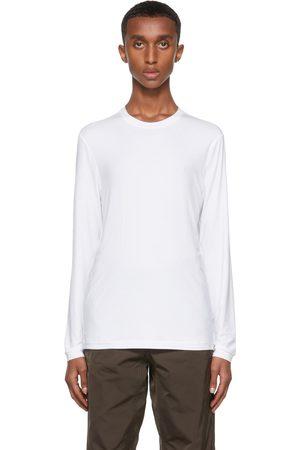 Giorgio Armani T-shirt blanc en jersey extensible de viscose de bambou