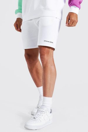 Boohooman Homme Shorts - Slim Official Man Waistband Mid Jersey Short Homme
