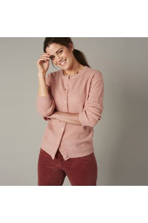 BLANCHEPORTE Cardigan boutons perles maille anglaise