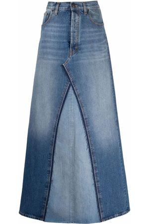 Maison Margiela Two-tone denim skirt