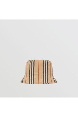 Burberry Homme Chapeaux - Bob en coton à rayures iconiques, Size: L
