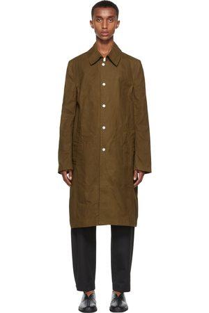 3MAN Homme Trench-coats - Trench ajusté kaki à boutons-pression