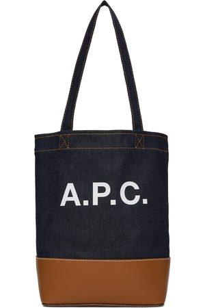 A.P.C. Cabas Axelle indigo et brun clair