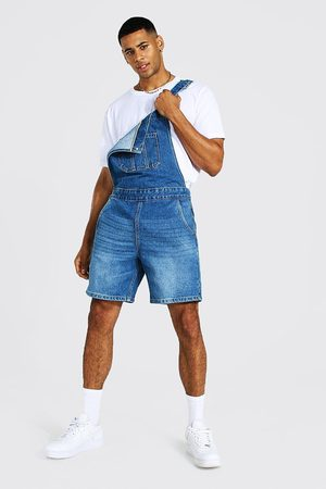 Boohoo Loose Fit Short Dungaree Homme