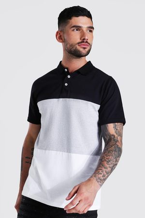 Boohoo Slim Fit Colour Block Polo Homme