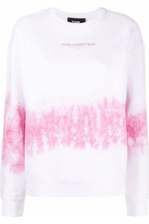 Karl Lagerfeld Tie-dye logo sweatshirt