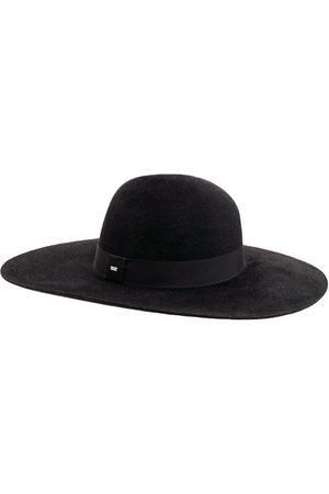 SAINT LAURENT Chapeau En Feutre Avec Ruban En Gros-grain