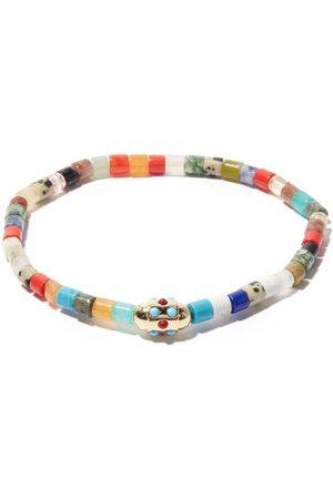 LUIS MORAIS Homme Bracelets - Bracelet en perles en 14 carats et turquoise