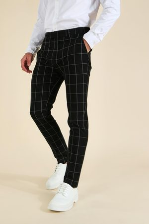 Boohoo Homme Pantalons Slim & Skinny - Skinny Windowpane Check Tailored Trouser Homme