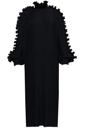 Balenciaga Robe en crêpe côtelé volantée