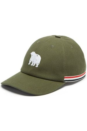 Thom Browne Casquette en toile à broderie ours
