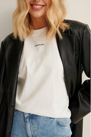 Calvin Klein Micro Branding Loose Tee - White