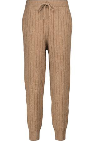 Polo Ralph Lauren Pantalon de survêtement en laine et cachemire à maille torsadée