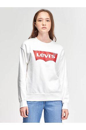 Levi's Sweat shirt graphique à col rond standard / White