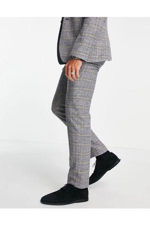 ASOS Pantalon de costume ajusté en laine mélangée à carreaux Prince de Galles