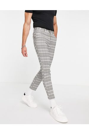 New Look Pantalon court coupe slim - à carreaux