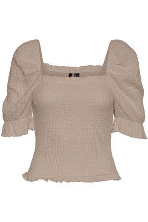 VERO MODA Femme Tops & T-shirts - Puff Short Sleeved Top Women brown