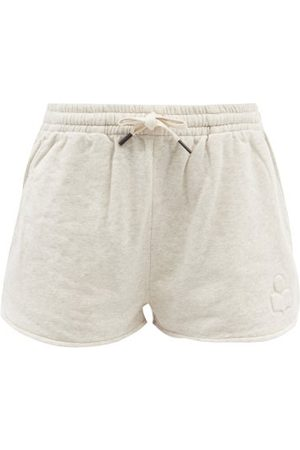 Isabel Marant Femme Shorts - Short en jersey de coton à logo embossé