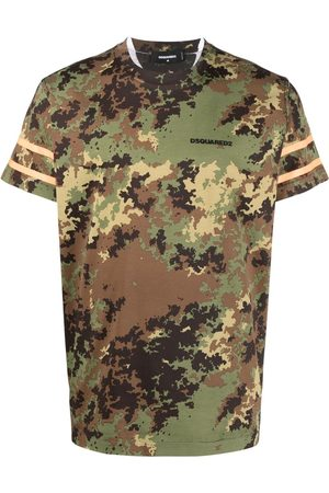Dsquared2 Homme Débardeurs - T-shirt à imprimé camouflage