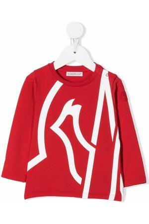 Moncler Enfant T-shirt oversize à logo imprimé