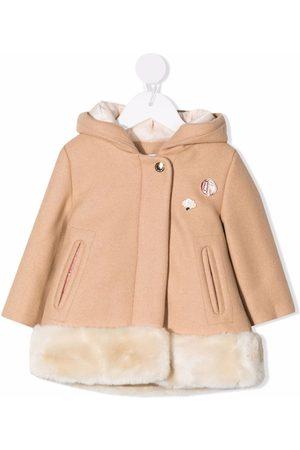 Chloé Manteau bordé de fourrure artificielle à capuche