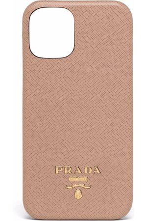 Prada Coque d'iPhone 12 Mini à plaque logo
